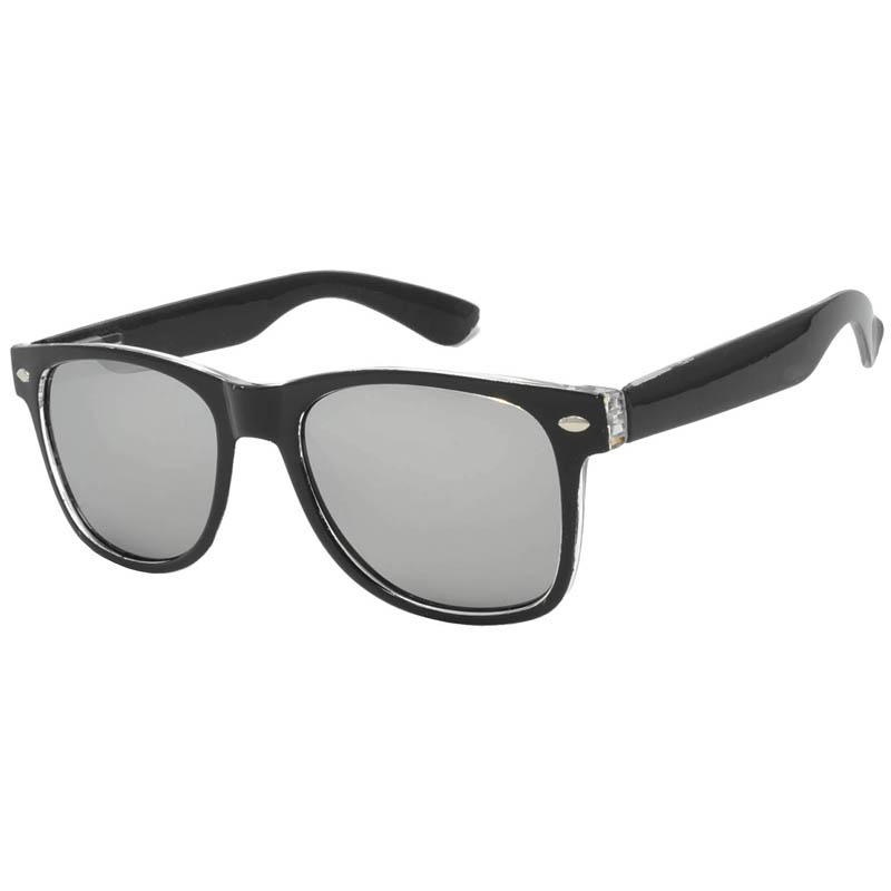2tone frame sunglasses black mirror lens