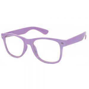 1 Pair of Sunglasses Clear Lens Purple