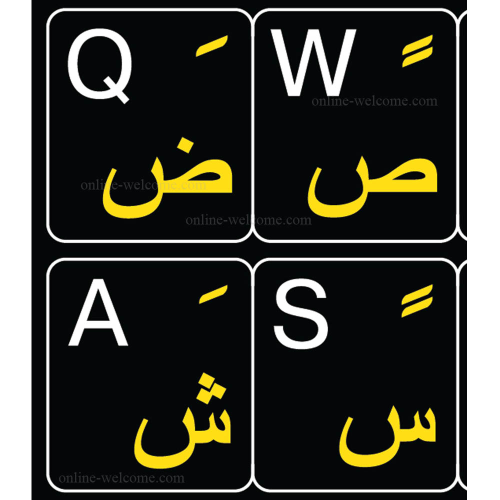 Arabic-English-keyboard-sticker-black-for-computer
