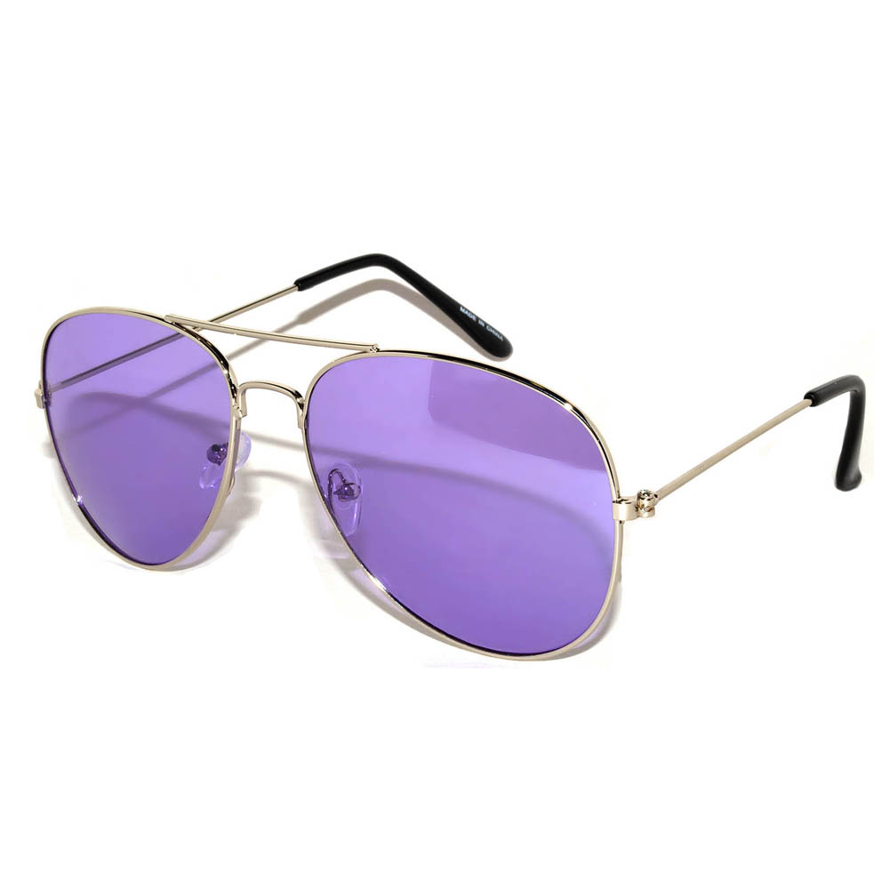 Colored Lens Sunglasses  owl eyewear aviator sunglasses colored colored lens silver frame