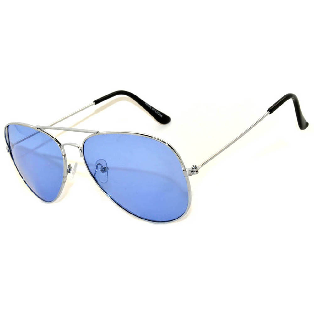 Colored Lens Sunglasses  owl eyewear aviator sunglasses colored colored lens silver frame