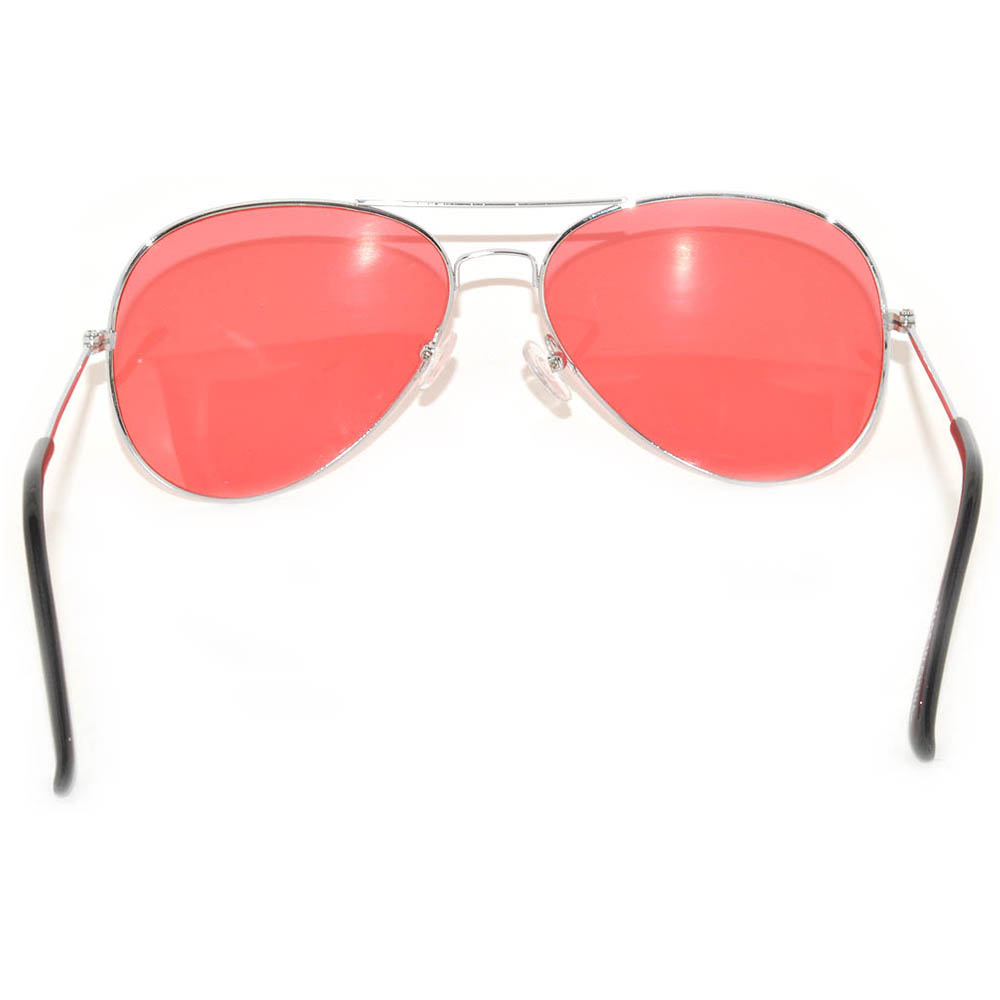 Sunglasses With Red Lenses  061 sr owl eyewear aviator sunglasses silver frame red lens