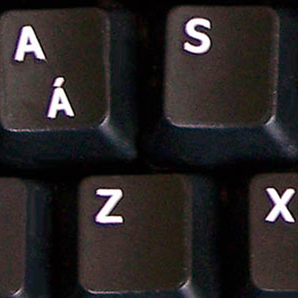 English UK letters for keyboard black