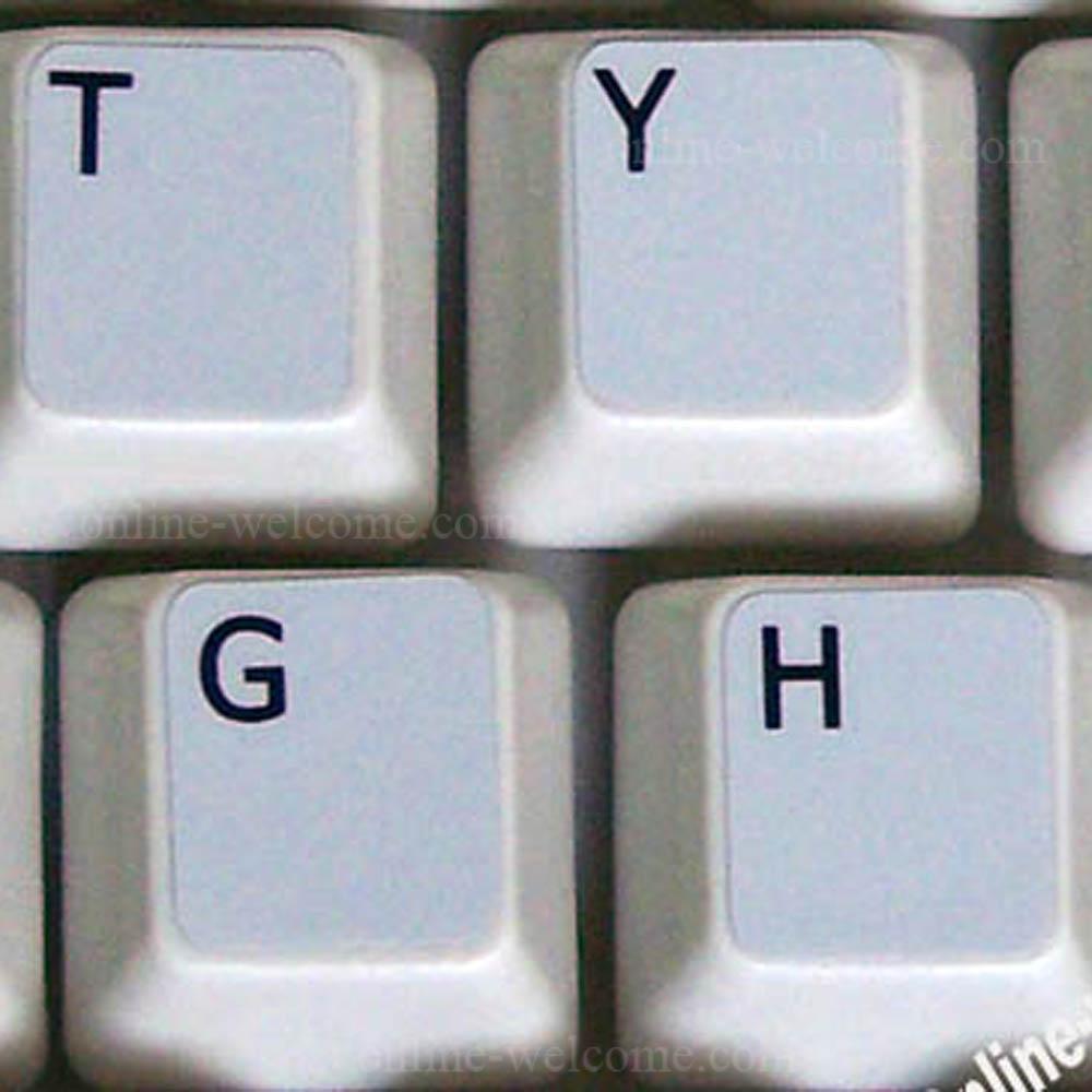 English UK keyboard sticker grey