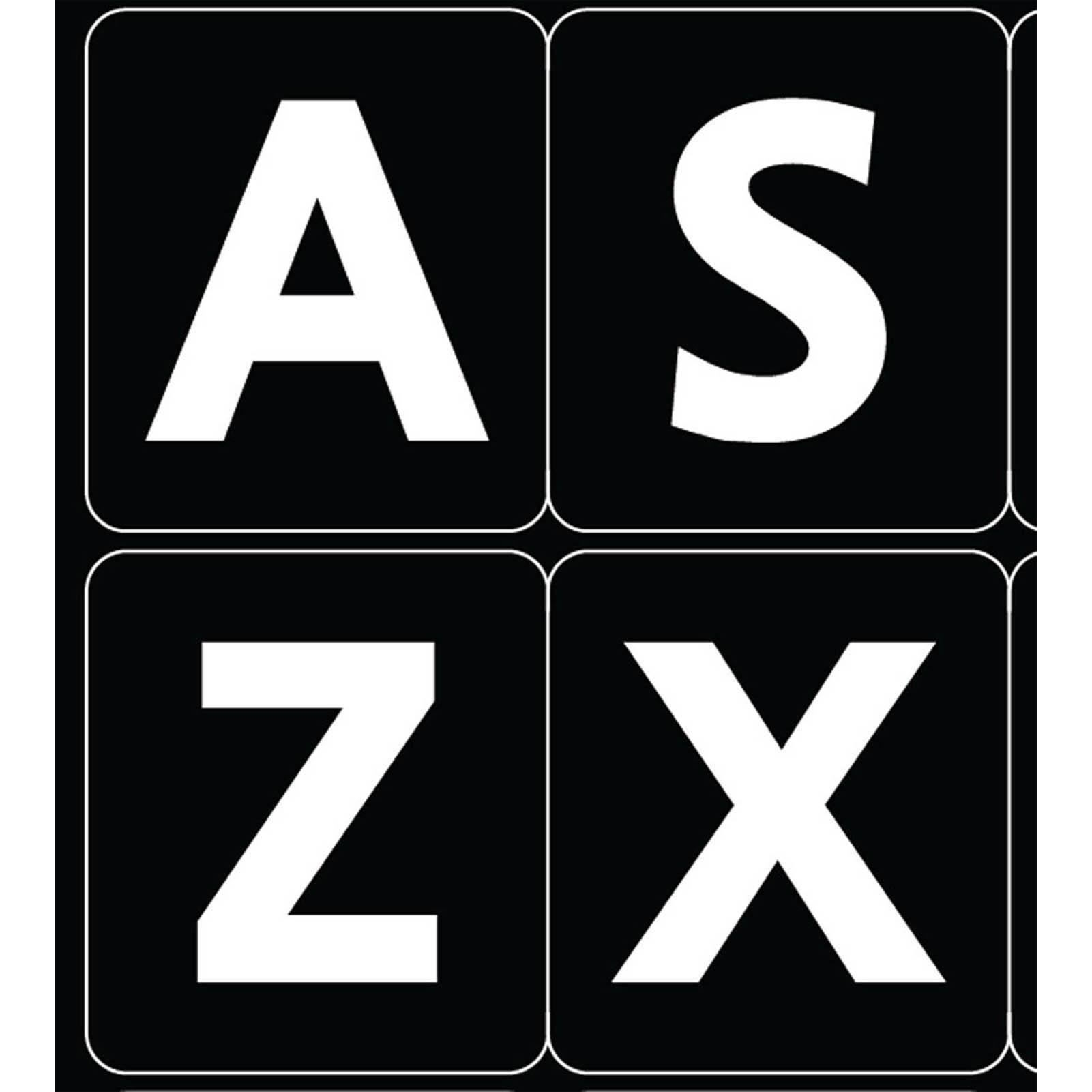 English uk large bold letters keyboard sticker black