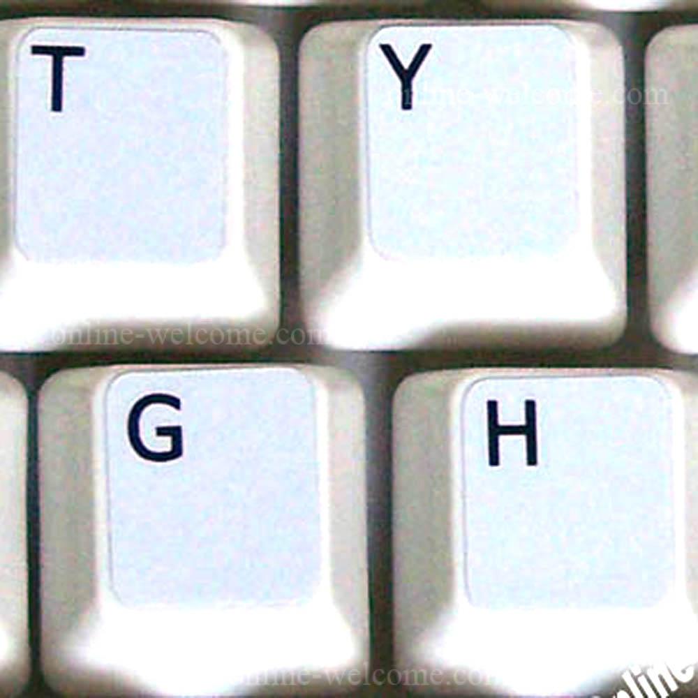 English UK keyboard sticker white non transparent