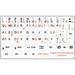 English international keyboard stickers non transparent white