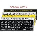 English us large bold letters keyboard sticker 5 colors