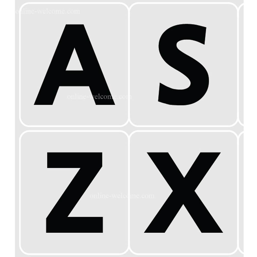 English us large bold letters keyboard sticker grey
