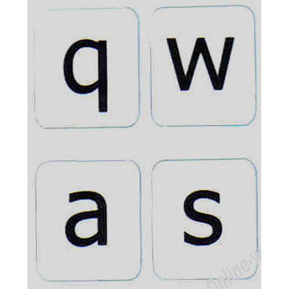 English US lower case keyboard sticker grey