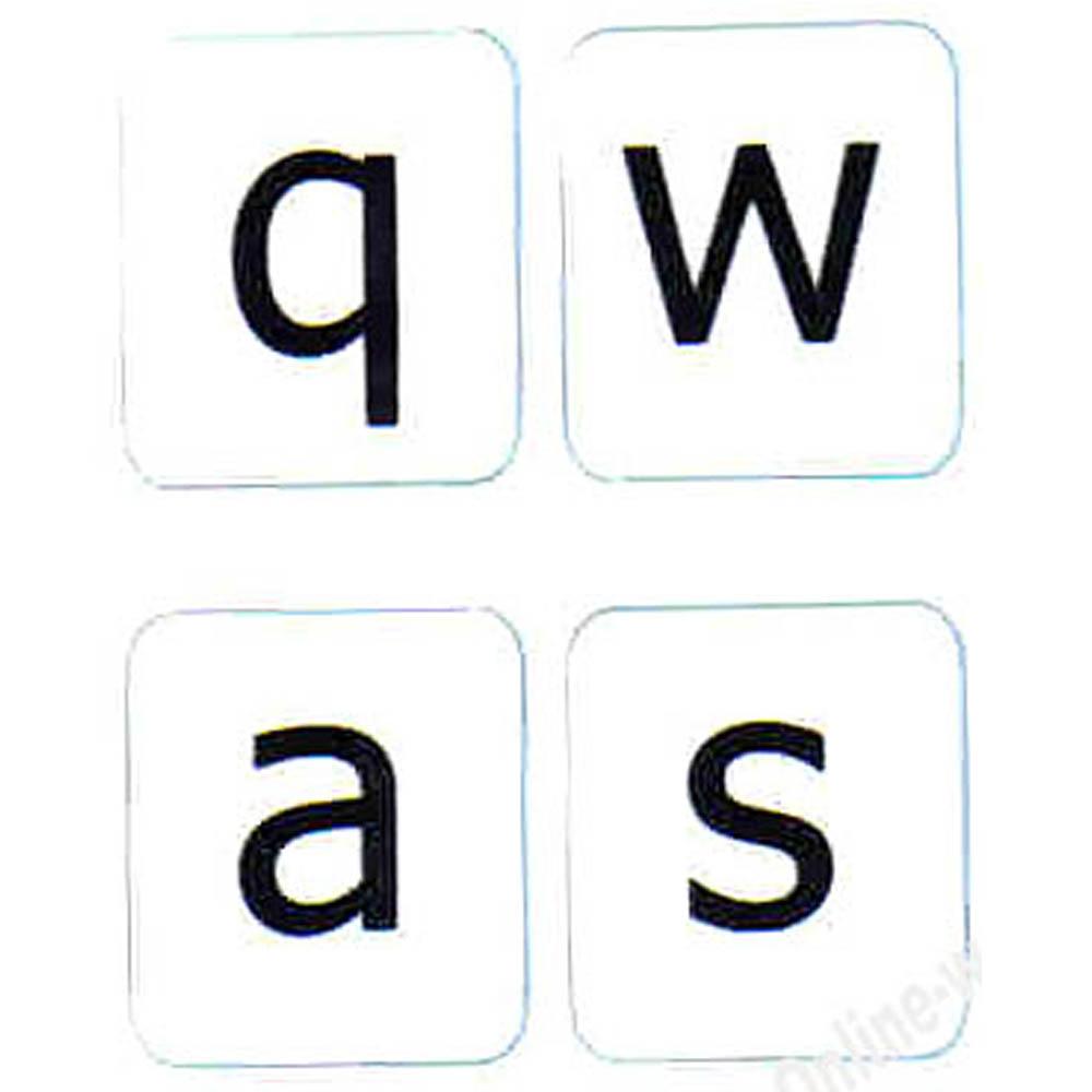 English US lower case keyboard sticker white