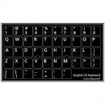 English us non transparent black keyboard sticker