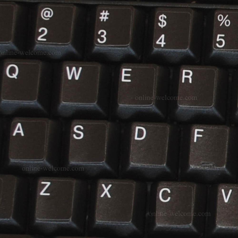 replacement English us keyboard sticker black