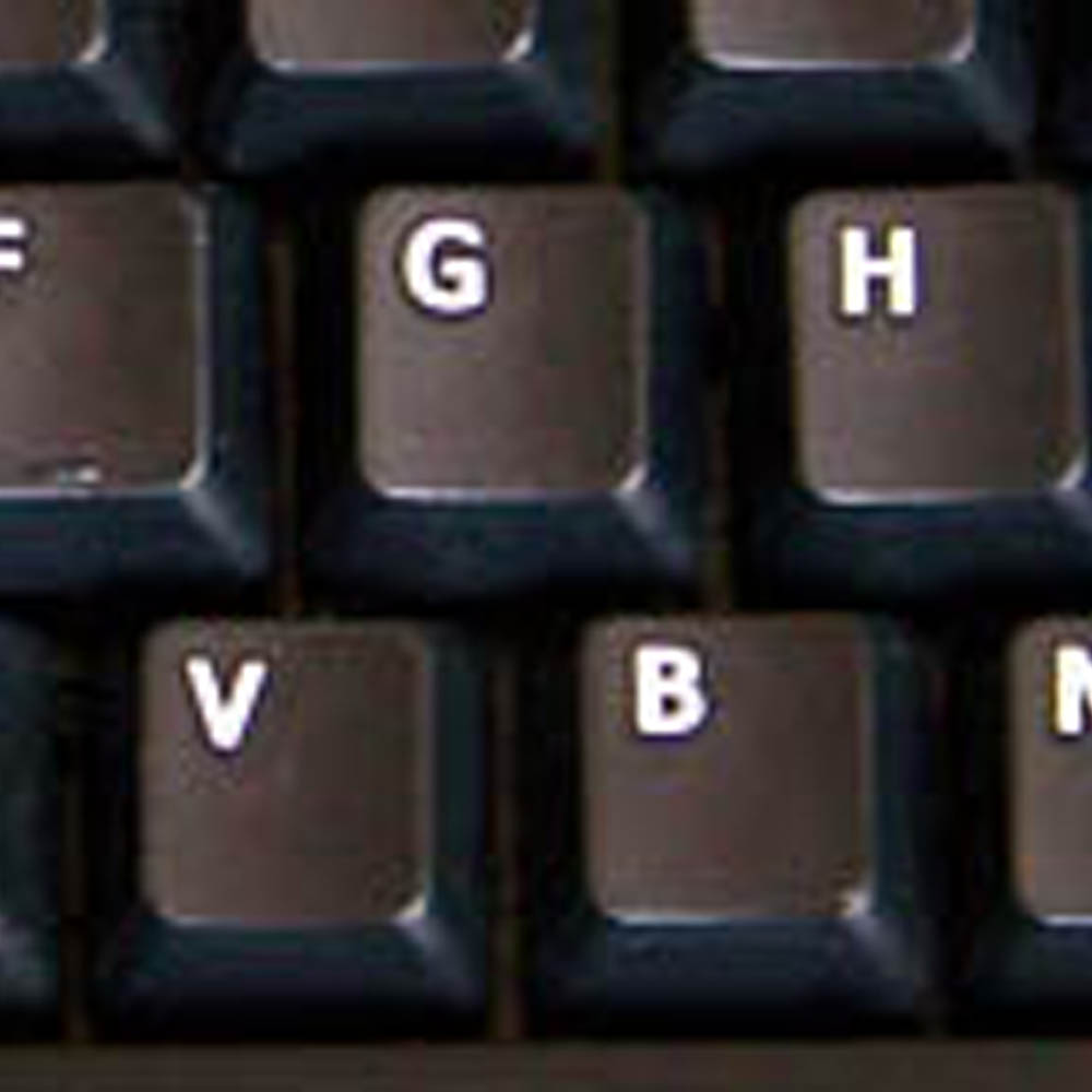 German keyboard sticker black