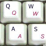 Italian-English Keyboard sticker white
