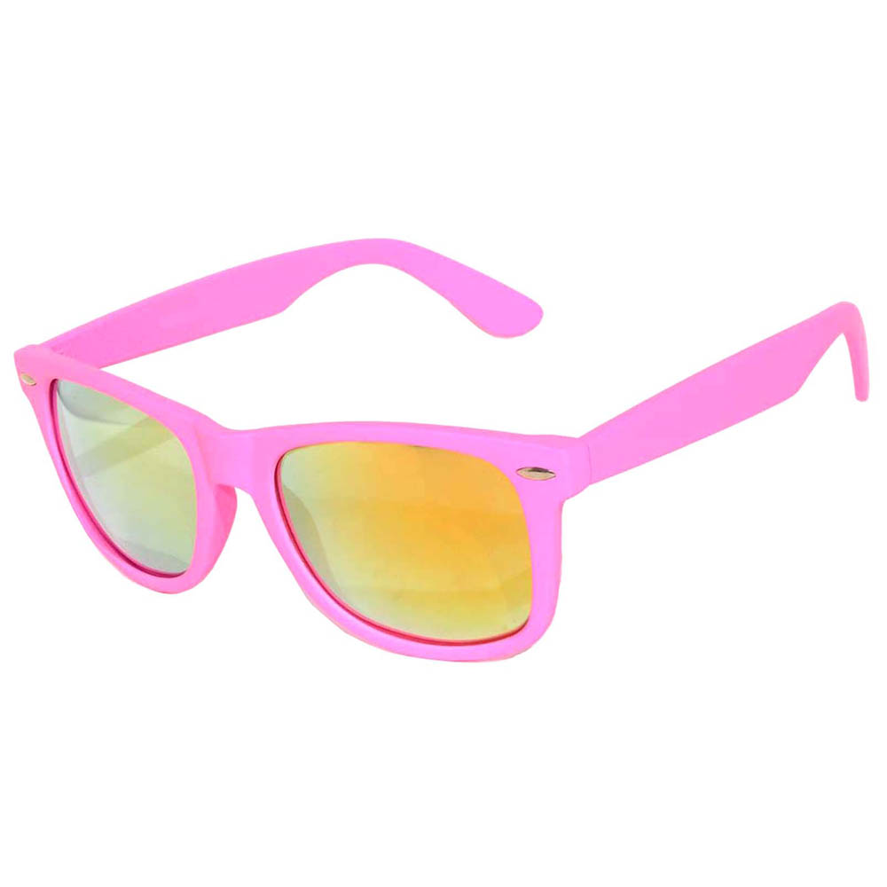 matte mirror pink sunglasses