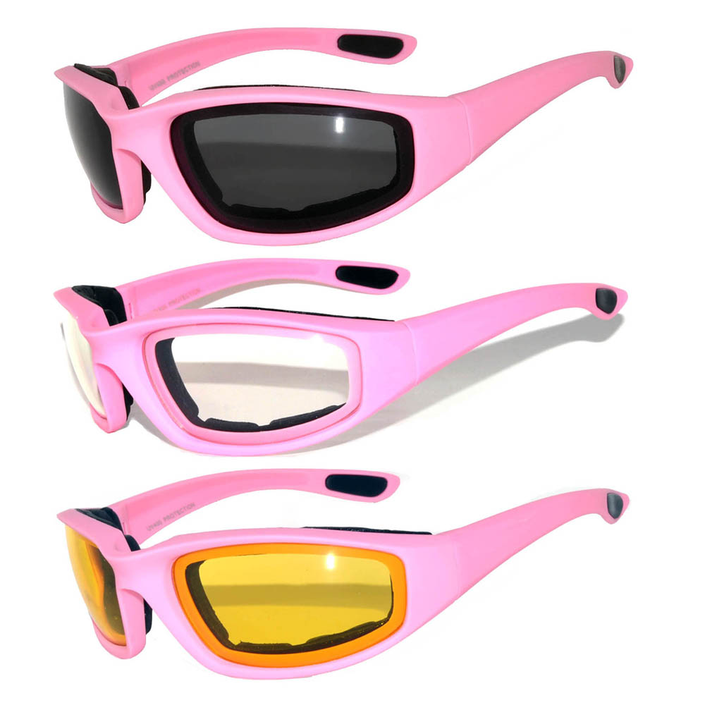 Motorcycle sunglasses pink mixed colors