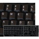 Replacement key english us keyboard stickers black