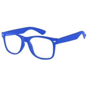 Retro Blue Frame Plastic Frame Clear Lens