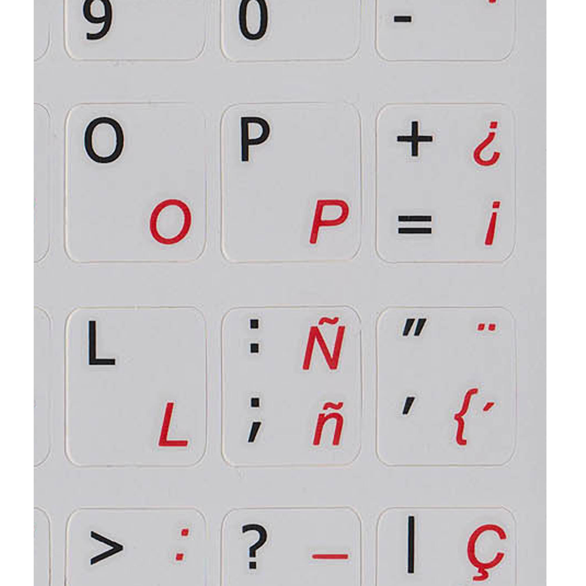 Spanish traditional - English keyboard labels grey buy now