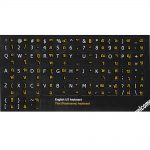 Thai-English keyboard sticker black