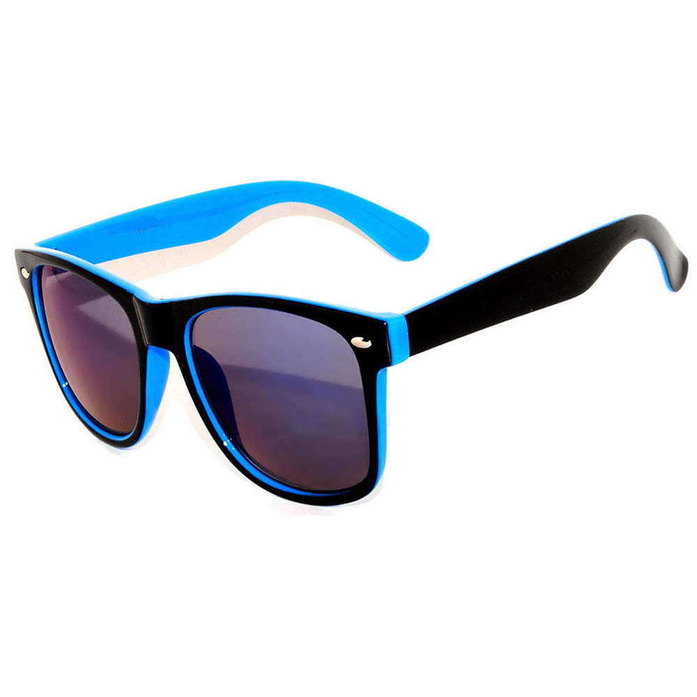 Sunglasses Two Tone Mirror Blue Lens (12 PCS)