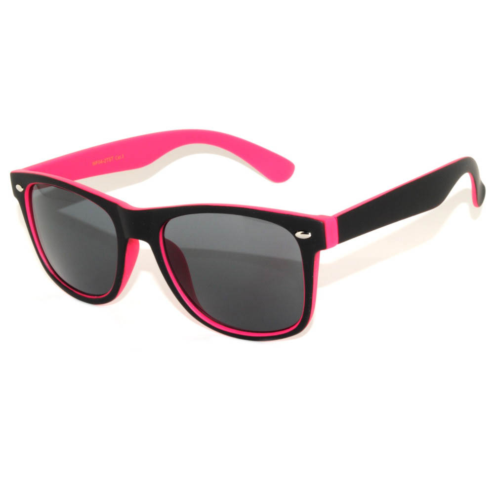 1 pair of Sunglasses 2 Tone Colored Smoke Lens Pink