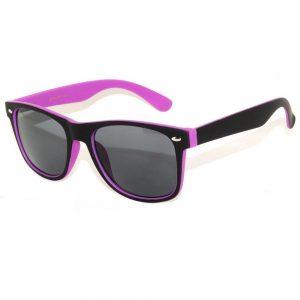 1 pair of Sunglasses 2 Tone Colored Smoke Lens Purple