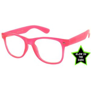 wayfarer-glow-in-the-dark-pink-clear-lense-sunglasses