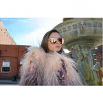OWL ® Eyewear Sunglasses 86004 C1 Women's Metal Aviator Gold Frame Pink Mirror Lens One Pair