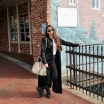 Women Metal Sunglasses Fashion Black Frame Smoke Lens