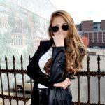 Sunglasses Womens Metal Fashion Gold Frame Dark/Blue Mirror Lens