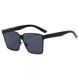 Sunglasses 86029 C1 Women's Metal Fashion Black Frame Smoke Lens