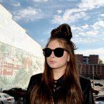 Sunglasses 86036 C1 Women's Metal Fashion Black/Silver Frame Smoke Len