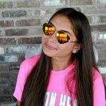 Sunglasses Heart Women's Metal Gold Frame Red Mirror Lens