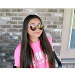 Sunglasses Heart Women's Metal Silver Frame Multicolor Mirror Lens