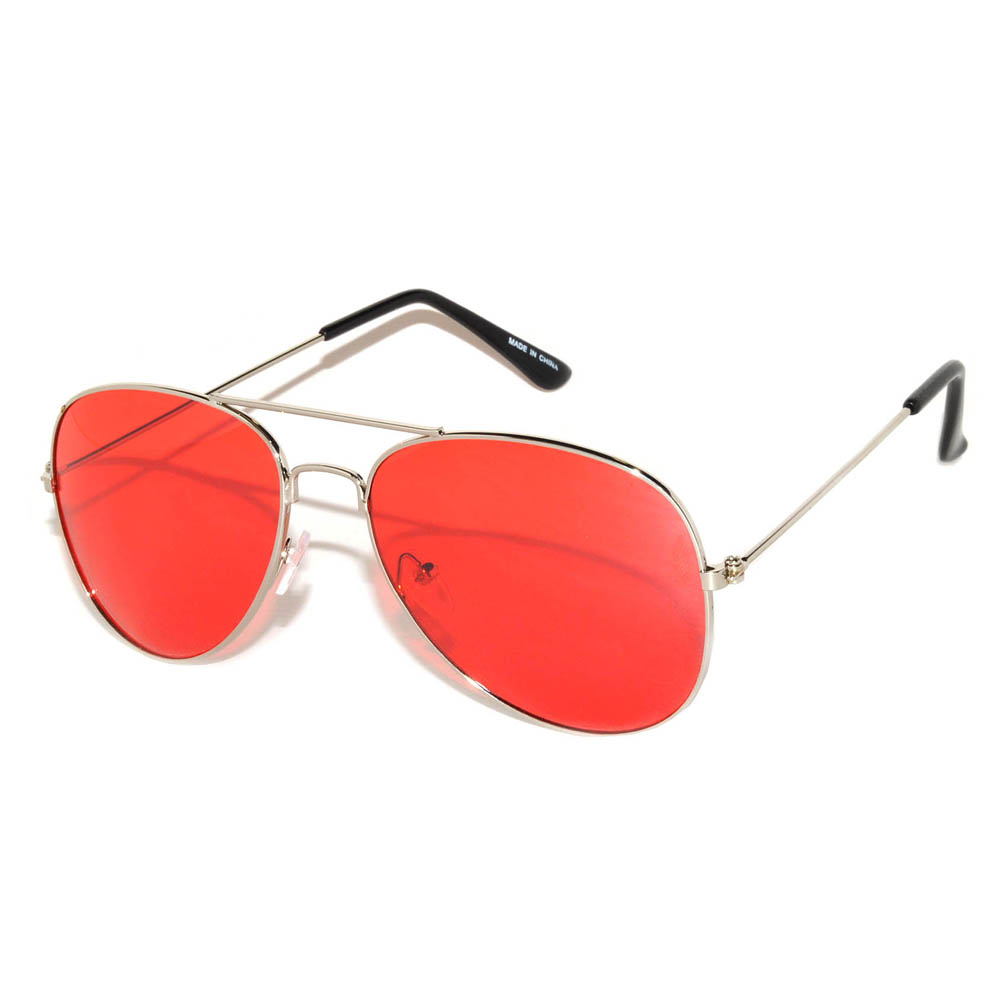 online aviator sunglasses  OWL 庐 Eyewear Aviator Sunglasses Colored Colored Lens Silver Frame ...