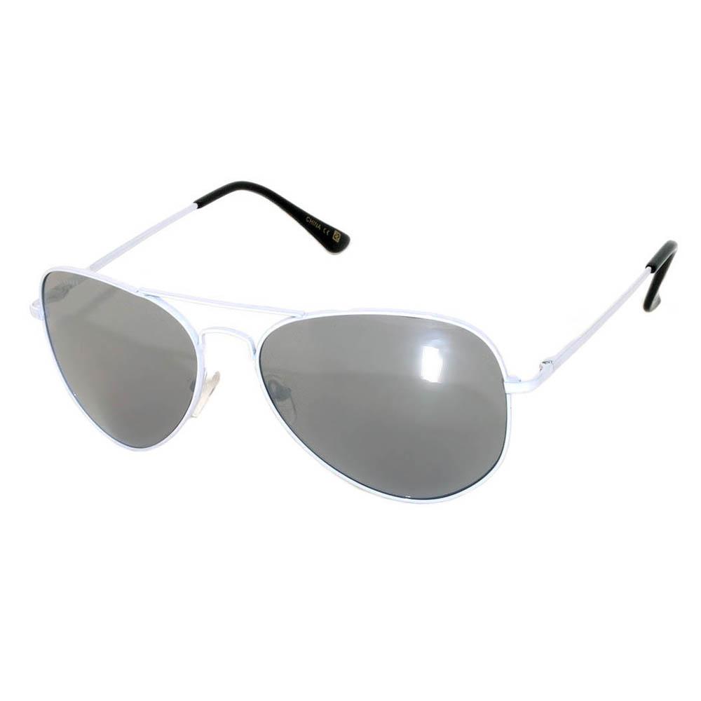 Aviator White Mirror Lens