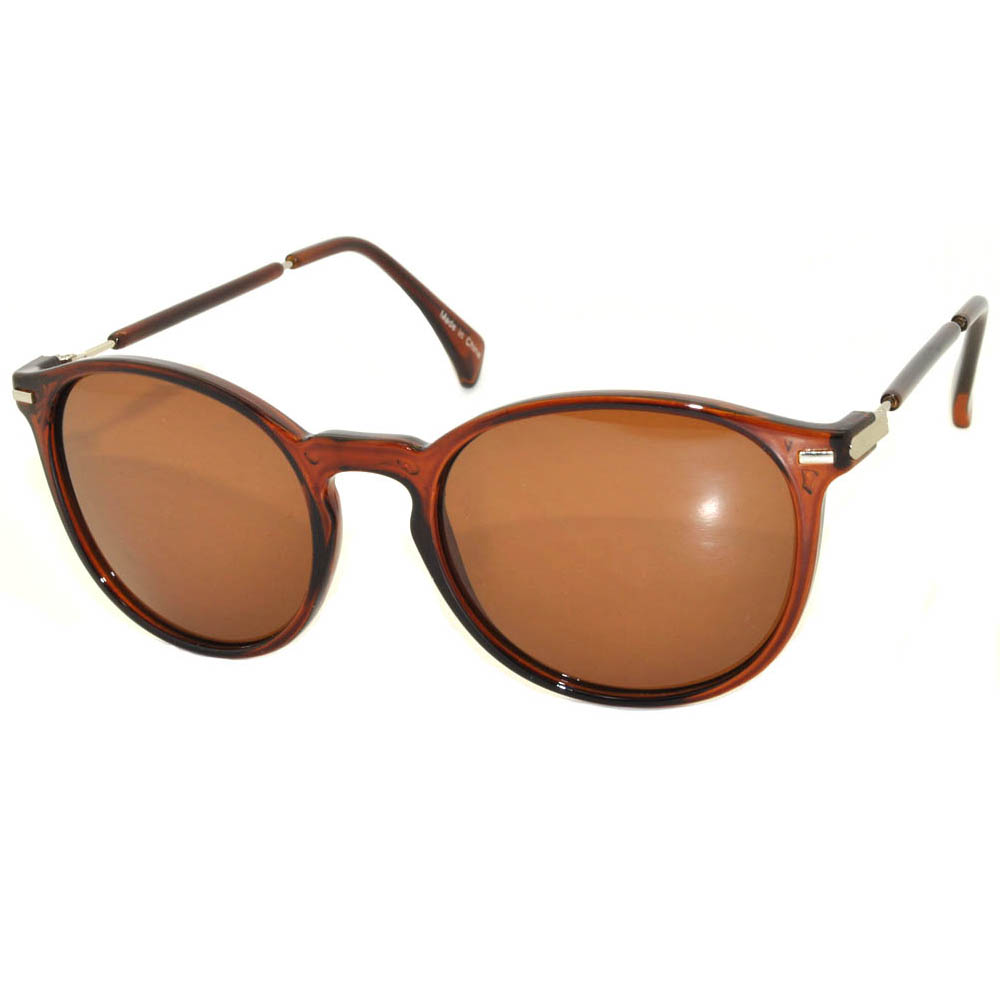 Vintage Round Sunglasses WF01-01Brown (12PCS)