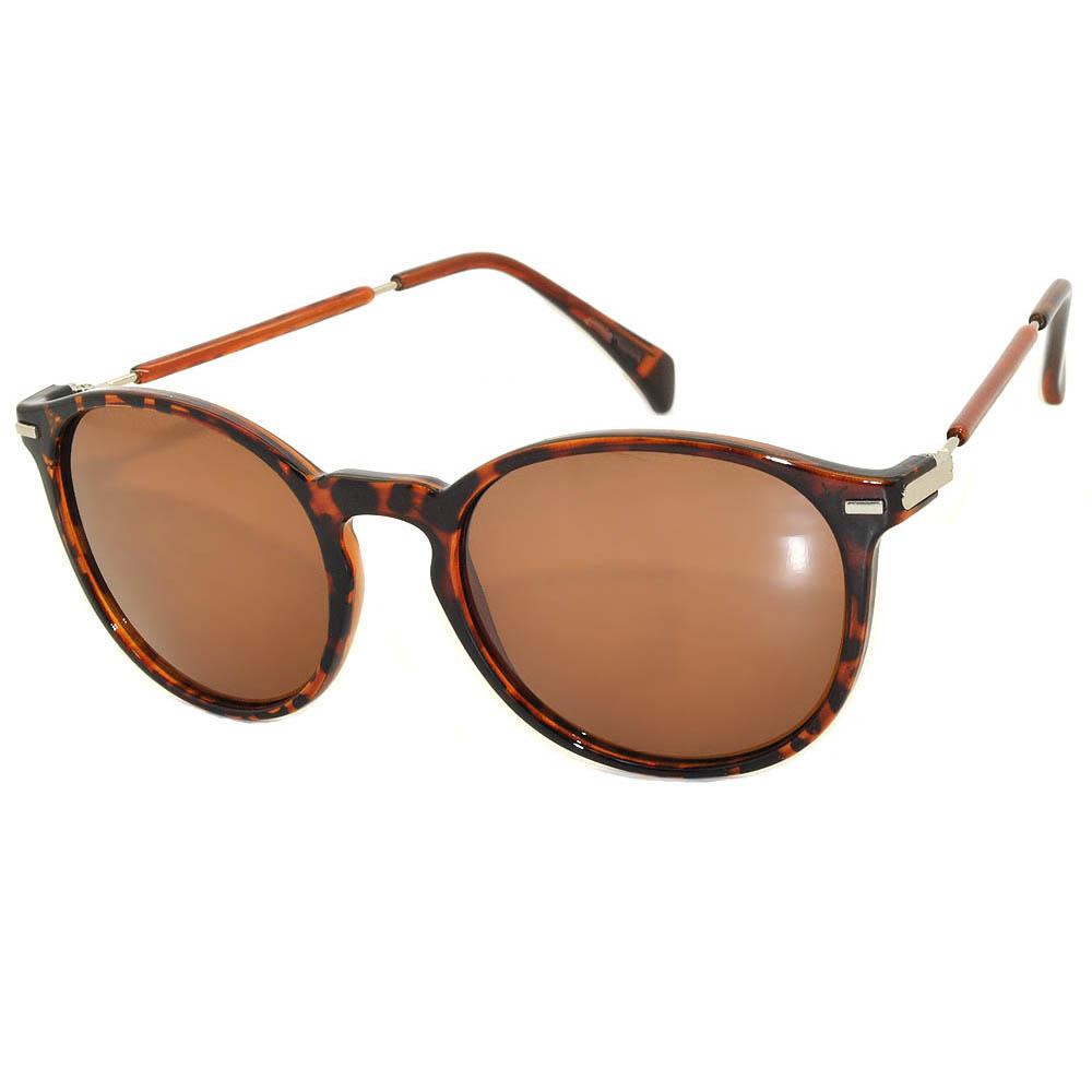 Vintage Round Sunglasses WF01-01Leopard Brown (12PCS)