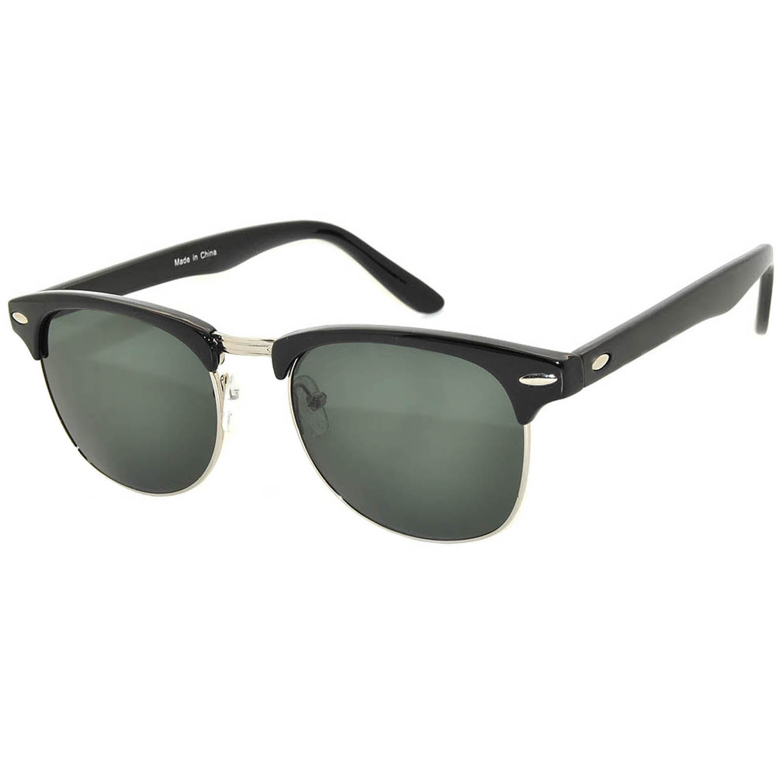 half frame sunglasses wholesale black green lens