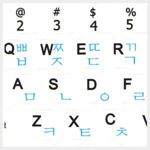 Notebook Mini 9x9 mm Keyboard Stickers