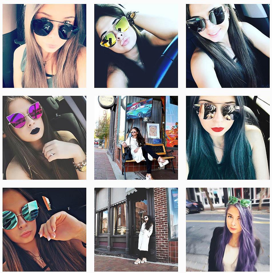 New models of fancy designer sunglasses