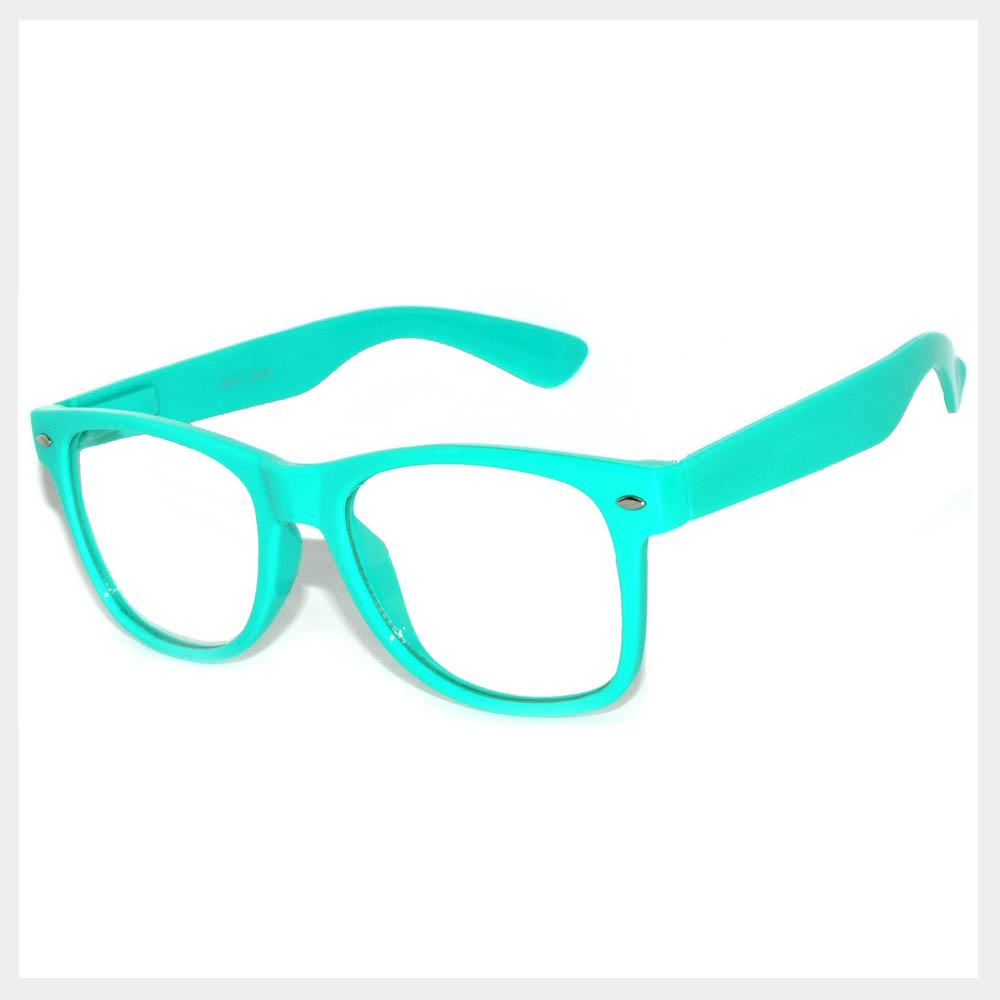 Turquoise Frame Sunglasses
