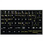 English international language keyboard stickers non transparent black