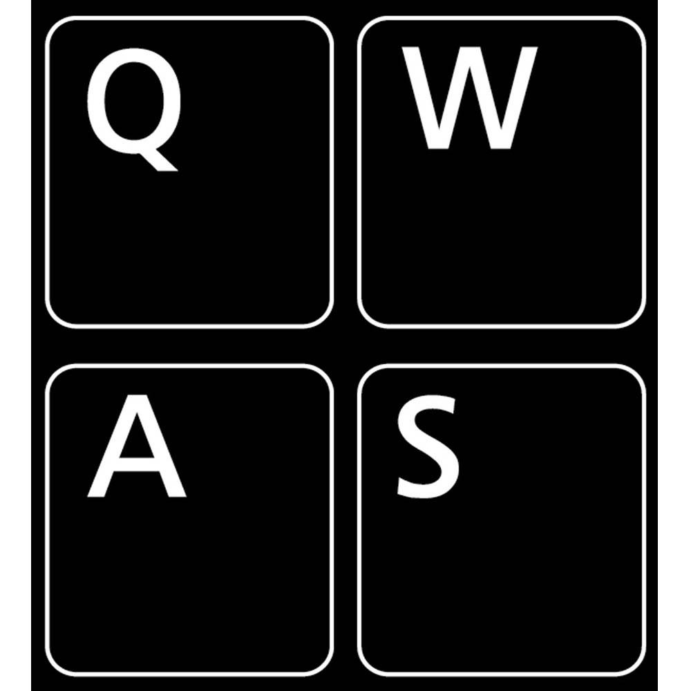 english us non transparent keyboard sticker