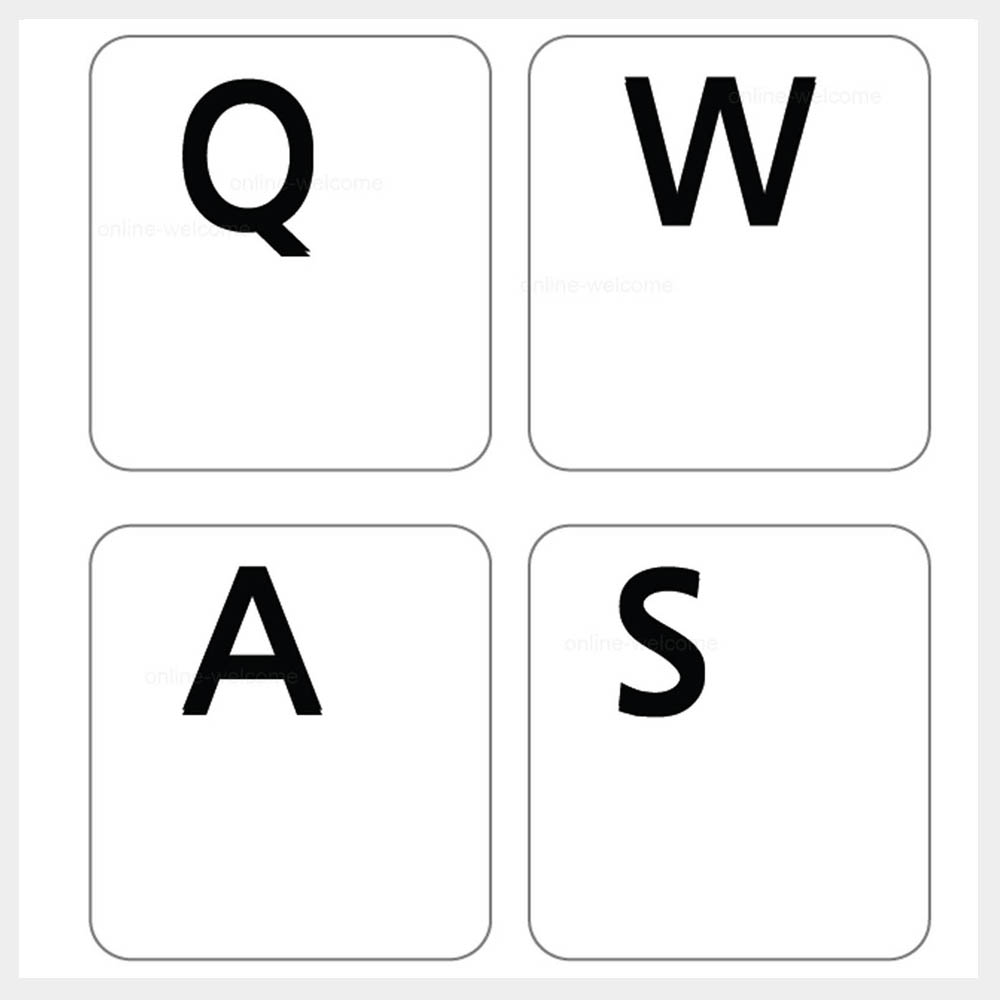 Transparent Keyboard Letter Stickers