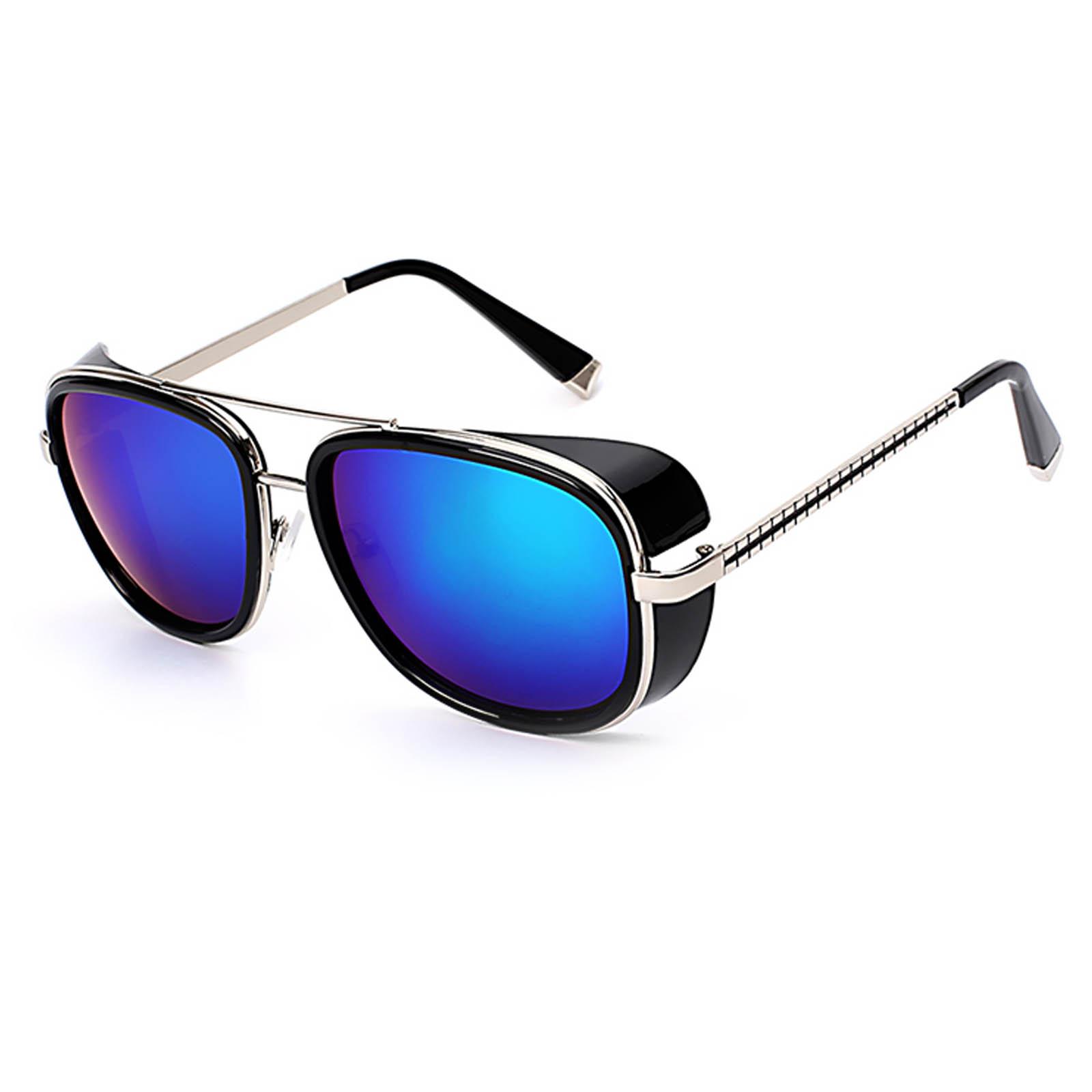 OWL ® 002 C9 Aviator Eyewear Sunglasses Women's Men's Metal Black Frame Green Lens One Pair
