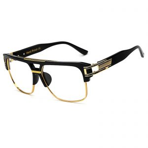 OWL ® 020 C3 Rectangle Eyewear Sunglasses Women's Men's Plastic Black Frame Clear Lens One Pair