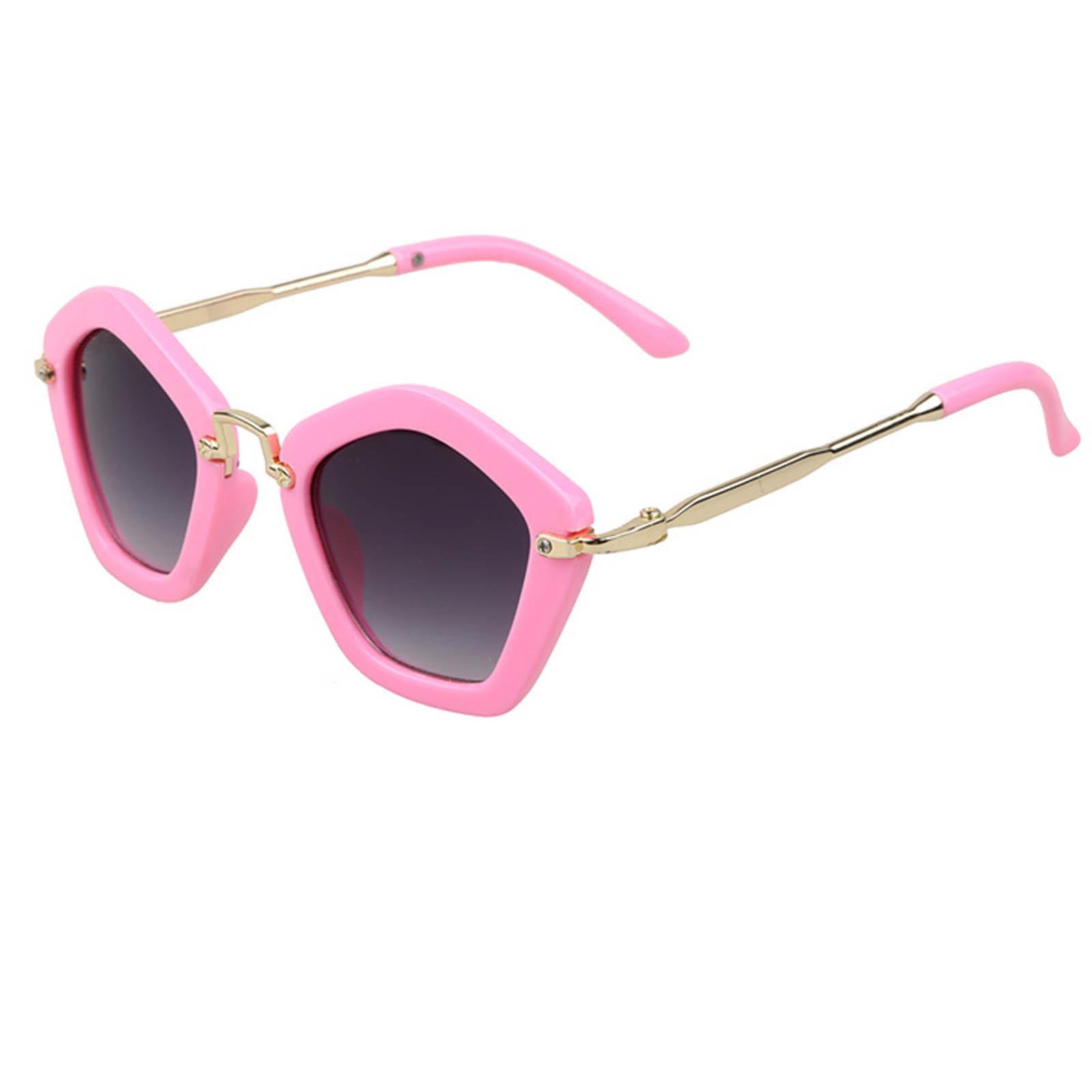 OWL ® 044 C3 Round Pentagon Eyewear Sunglasses Women's Men's Metal Punk Hot Frame Smoke Lens One Pair